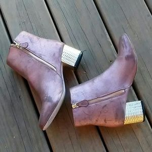ASOS Metallic Booties